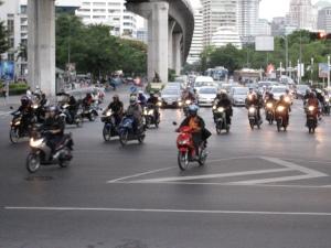 Traffic on Rama 4 Road