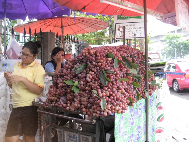 Heap of grapes at Chatuchak Weekend Market