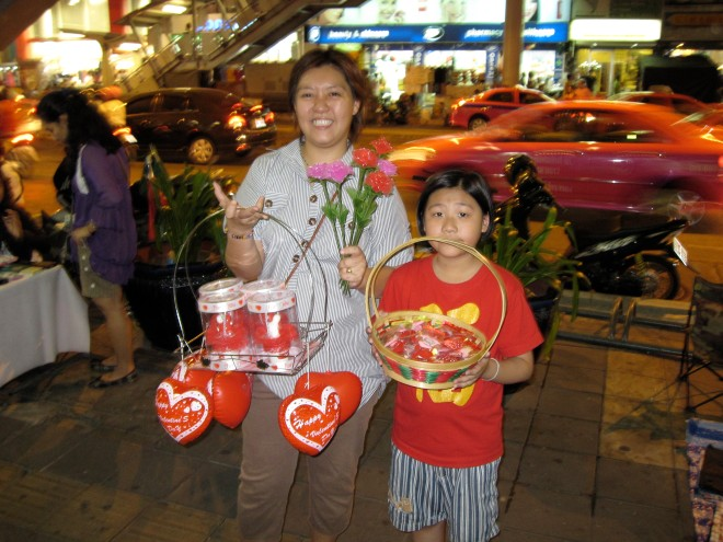 V-Day goodies on Silom Road