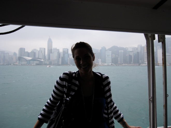 On the ferry to Kowloon